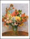 【アートポスター】 花瓶の花 (24cm×30cm) -ルノアール-