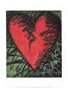 【アートポスター】Rancho Woodcut Heart (281mmx358mm) -ジム・ダイン-