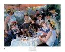 【アートポスター】舟遊びの昼食(660x810mm) -ルノアール-