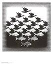 【アートポスター】空と水(550×650mm) -エッシャー-
