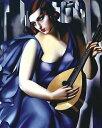 【レンピッカ アートポスター】ギターを弾く青衣の女(406×508mm)