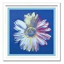 【アンディ・ウォーホル額付ポスター】デイジー1982年(青と青)(600×600×15mm)