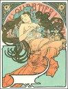 【アートポスター】乳房を露わにした女(リトグラフ)610x784mm -ミュシャ-