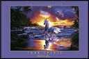 【クリスチャン・ラッセン】自由の精神(620×925×10mm) ポスター&アルミ製フレームセット