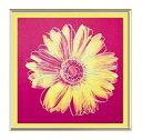 【アンディ・ウォーホル アルミ額装ポスター】デイジー1982年(フクシア色と黄色)(530×530×7.5mm)-余白無し-