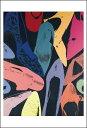 【アートポスター】Diamond Dust Shoes, 1980 (lilac, blue, green)(331×480mm) -ウォーホル-