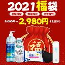 福袋 2021 福袋 超お得な5点セット マスク 5枚 紫外線除菌器 1本 アルコールハンドジェル 500ML 日本製 1本 アルコールハンドジェル 60Ml 3本 ウェットティッシュ 2パック