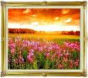 自然の誉 F20サイズ 【油絵 直筆仕上げ絵画】【額縁付】 油彩 風景画 オリジナルインテリア絵画 風水画 インテリアアート絵画 20号