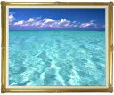 blue on blue  F30サイズ 【油絵 直筆仕上げ絵画】【額縁付】 油彩 風景画 オリジナルインテリア絵画 風水画 インテリアアート絵画 30号