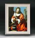 フェルメール Saint Praxidis アートフレーム サイズM 【油絵 直筆仕上げ 複製画】【油彩 布キャンバス 国内生産】 絵画 販売 人物画 511×418mm 送料無料