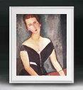 モディリアーニ ヴァン・ムイデン夫人の肖像 アートフレーム サイズL 【油絵 直筆仕上げ