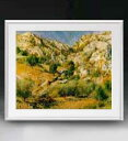 ルノワール Rocky Craggs at l'Estaque アートフレーム サイズL 【油絵 直筆仕上げ 複製画】【油彩 布キャンバス 国内生産】 絵画 販売 風景画 641×531mm 送料無料 (ルノアール)