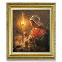 ミレー ランプのもとで縫い物をする女性 F10 【油絵 直筆仕上げ 複製画】【額縁付】 絵画 販売 10号 油彩 人物画 673×599mm 送料無料