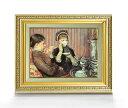 メアリー・カサット お茶 F4  【油絵 直筆仕上げ 複製画】【額縁付】 絵画 販売  4号 油彩 人物画 477×390mm 送料無料
