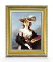 ヴィジェ・ルブラン 自画像 F6 【油絵 直筆仕上げ 複製画】【額縁付】 絵画 販売 6号 油彩 人物画 554×463mm 送料無料