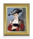 ルーベンス シュザンヌ・フールマンの肖像 F6  【油絵 直筆仕上げ 複製画】【額縁付】 絵画 販売  6号 油彩 人物画 554×463mm 送料無料