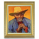 ゴッホ パシアンス・エスカリエの肖像 F8 【油絵 直筆仕上げ 複製画】【額縁付】 絵画 販売 8号 油彩 人物画 598×524mm 送料無料