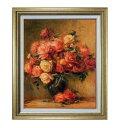 ルノワール Bouquet of Roses ばら  F15 |油絵 直筆仕上げ 複製画|油彩 国内