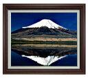 富士山(3) F15サイズ 【油絵 直筆仕上げ】【額縁付】 油彩 風景画 オリジナルインテリア絵画 風水画 ブラウン額縁 812×690mm 送料無料