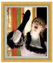 ドガ カフェの歌い手 F20  【油絵 直筆仕上げ 複製画】【油彩 国内生産 インテリア】絵画 販売 20号 人物画 ゴールド額縁 887×766mm 送料無料