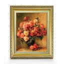 ルノワール Bouquet of Roses ばら F6  【油絵 直筆仕上げ 複製画】【額縁付】 絵画 販売  6号 油彩 静物画 554×463mm 送料無料