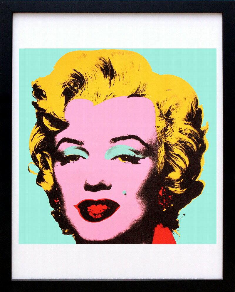 絵画【ポスター】アンディ・ウォーホル「マリリン・モンロー(オン ブルー グラウンド)1967」展示用フック付ポスター ポップアート【インテリア】【アート】【アンディウォーホル】