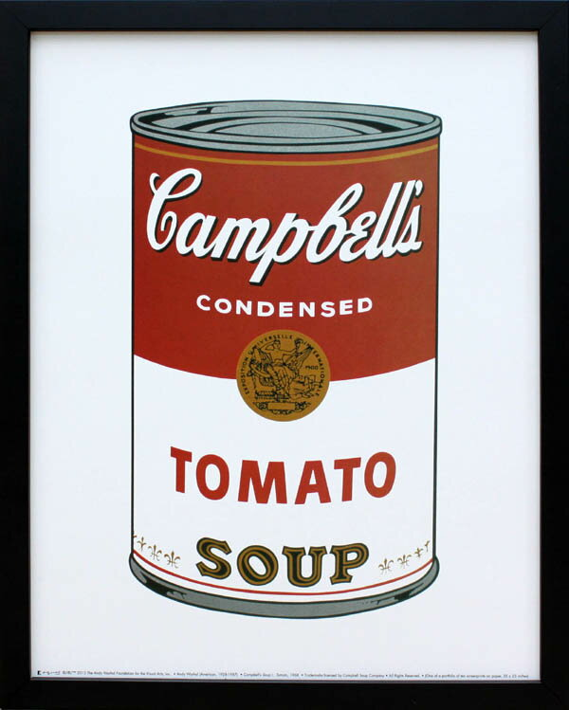 絵画【ポスター】アンディ・ウォーホル「キャンベル・スープ(トマト)1968」展示用フック付ポスター ポップアート【インテリア】【アート】【アンディウォーホル】【アンディ ウォーホル】