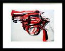 アンディ・ウォーホル「ガン(ブラック&レッド)Gun,c 1981-82」展示用フック付ポスター ポップアート【インテリア】【アート】【アンディウォーホル】【絵画インテリア】