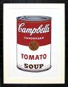 アンディ・ウォーホル「キャンベル・スープ(トマト) 1968」展示用フック付大型サイズジークレ ポップアート【インテリア】【アート】【アンディウォーホル】【絵画インテリア】
