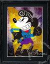 絵画 インテリア ディズニー×ブランドオマージュアート/スターデザイン「ミッキーマウス×ルイスレザー」A4ポスター