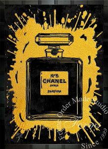 【絵画インテリア】ブランドオマージュアート/スターデザイン「シャネル・パフューム/Chanel Perfume」ポスター【インテリア】【ポップアート】【シャネル】【オマージュ】【パロディ】