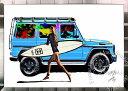 楽天アートショップ フォームス絵画 インテリア ブランドオマージュアート/スターデザイン「ベンツ/ゲレンデ×シャネル/サーフィン(S)」ポスター ポップアート シャネル ゲレンデヴァーゲン オマージュ