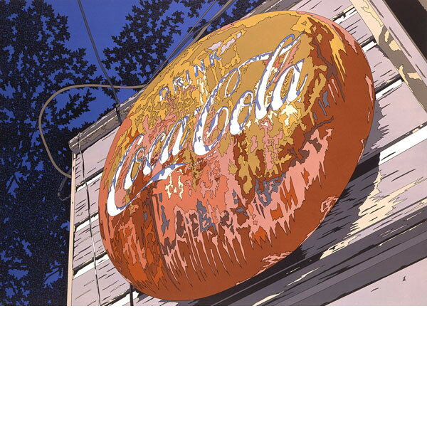 ■鈴木英人■版画「DRINK COCA-COLA」 1985年