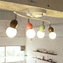 シーリングランプ 4灯 ARTWORKSTUDIO アートワークスタジオ Annabell-ceiling lamp アナベルシーリングランプ E26 100W ボール型 角度調整可能 リモコン付き 3段階� 灯切替 LED対応 6畳 子供部屋 おしゃれ アートワークスタジオ公式