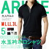 ポロシャツ メンズ 半袖 ドット 水玉柄 2枚衿【B6N】【送料無料】【メール便2】