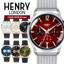 HENRY LONDON ヘンリーロンドン ★選べる6カラー★ 41mm メンズ レディース ユニセックス 腕時計 レザー クロノ ウォッチ プレゼント 贈り物 ギフト ペアウォッチ あす楽