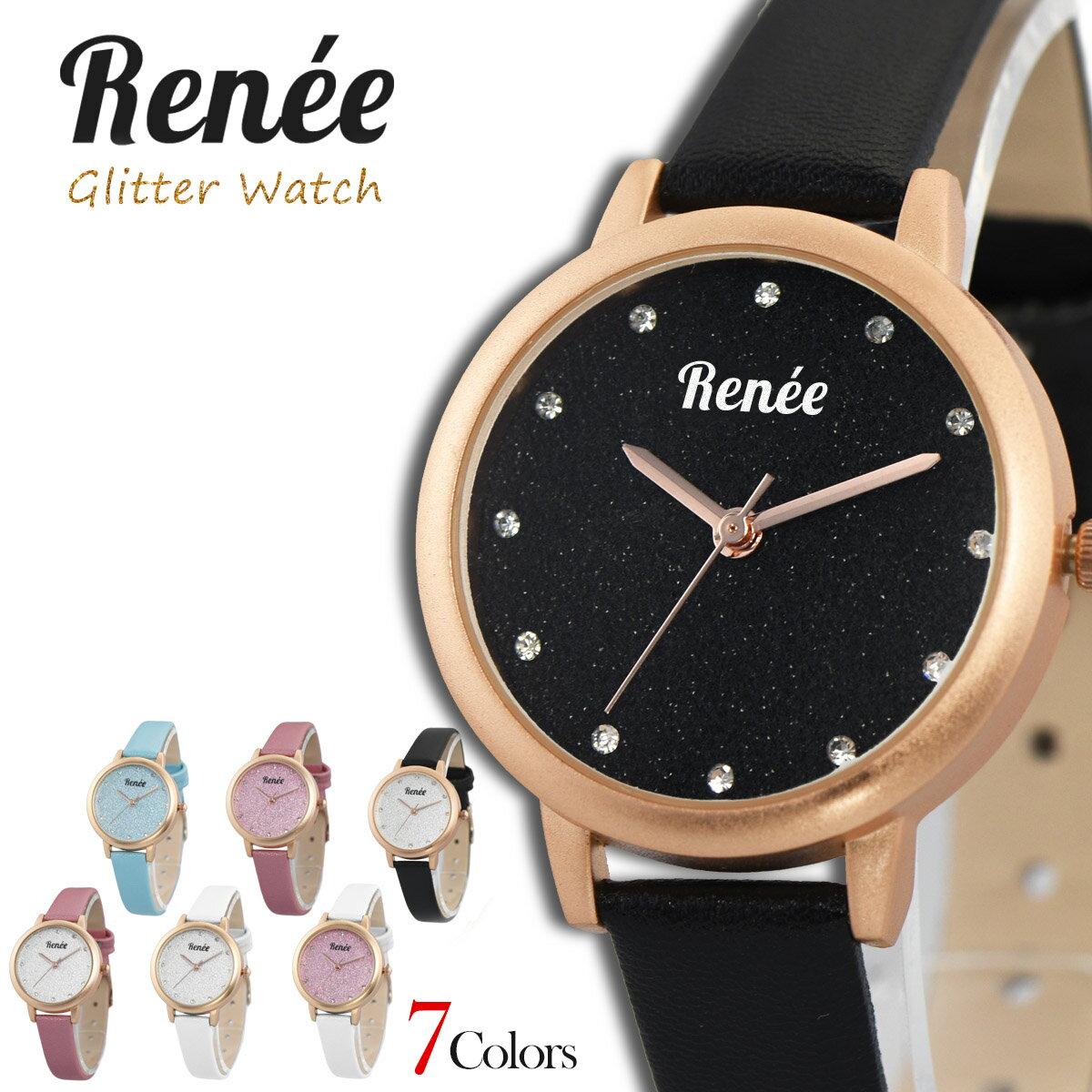 RENEE ルネ R01 腕時計 レディース アナログ クォーツウォッチ おしゃれ シンプル レザー 人気 カジュアル プチプラ