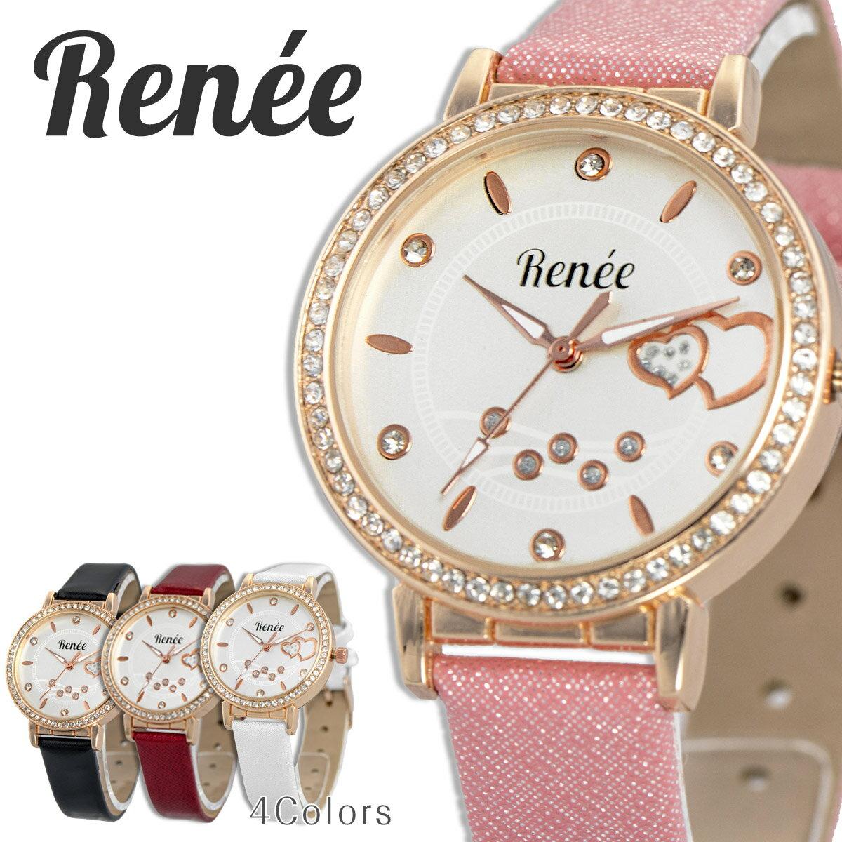RENEE ルネ R03 腕時計 レディース アナログ クォーツウォッチ おしゃれ シンプル レザー 人気 カジュアル