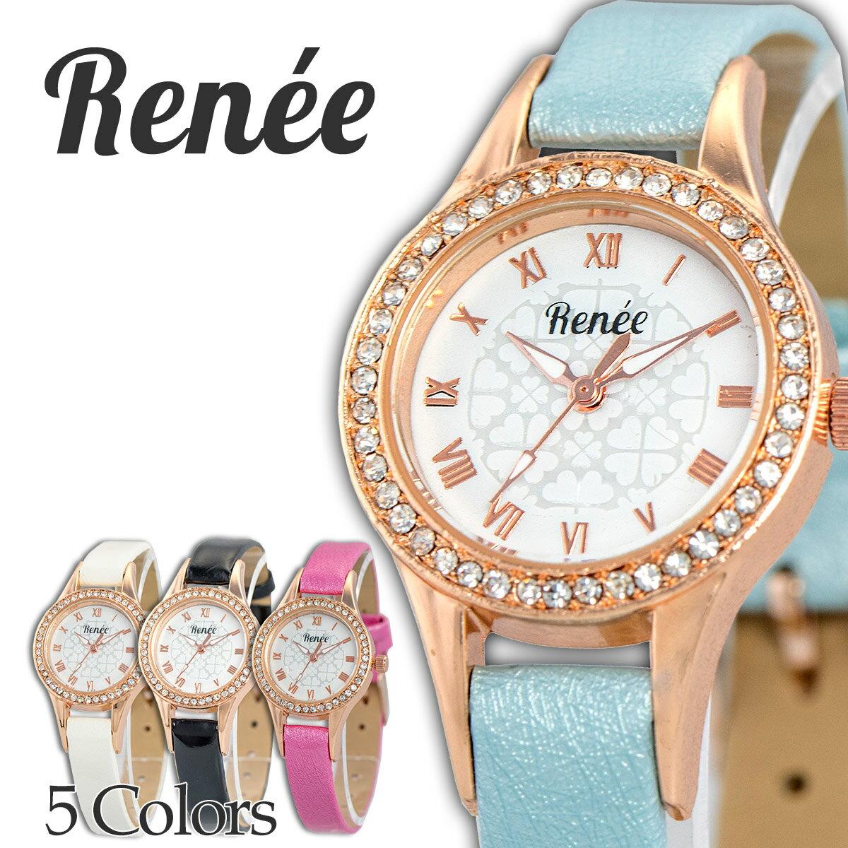 RENEE ルネ R04 腕時計 レディース アナログ クォーツウォッチ おしゃれ シンプル レザー 人気 カジュアル プチプラ