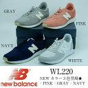 new balance WL220 PINK.NAVY.GR...
