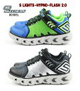 SKECHERS ボーイズ S Lights Hypno-Flash 2.0 90585L BLUE/LIME BLACK/SILVER CHARCOAL/RED スケッチャーズ 光るスニーカー 子供靴 ジ..