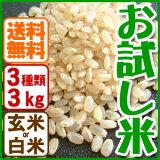 お米 お試しセット兵庫県産(合計3kg)有機肥料【当日精米】【】