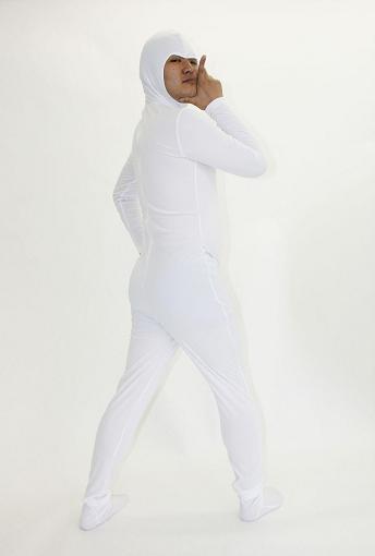 全身タイツくん 白 背中ファスナータイプ  全身タイツ【05P29Jul16】:ARUNE 仮装雑貨のお店あるね