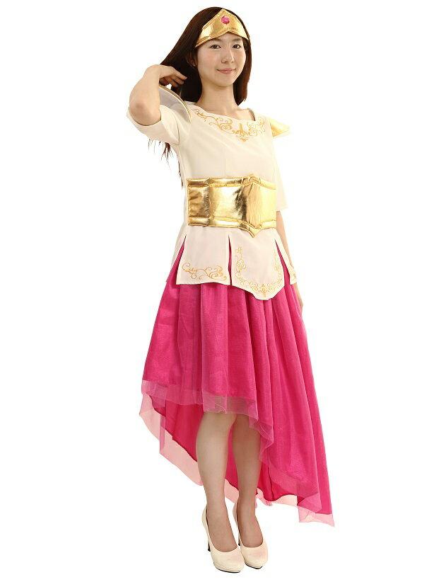 送料無料 笑ってもいいんだよドレス ピンク コスプレ 衣装 コス