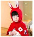 うさみみケープ Baby 赤 コスチューム 衣装 コスプレ ...