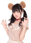 【メール便対応1個まで】コスプレ けもみみピン くま クマ 熊 動物 仮装 衣装 けものフレンズ風 アニマルアクセサリー