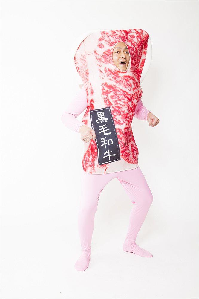 お肉着ぐるみ熟成肉野郎コスチュームパーティーグッズ仮装グッズイベント宴会着ぐるみ