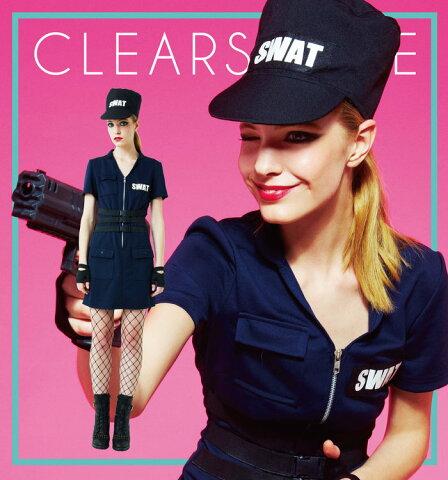 送料無料 スワット SWAT アメリカンポリス ハロウィン レディース 女性 衣装 コスプレ 仮装 変装 警察 婦人警官 コスチューム