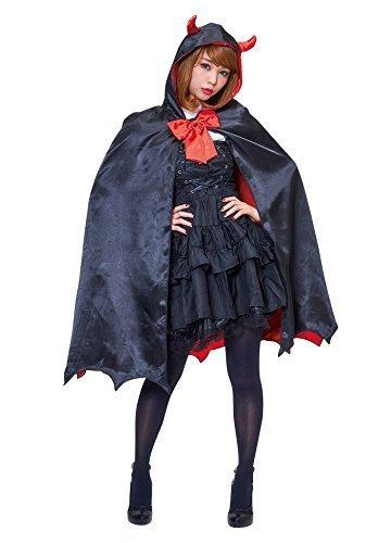 ハロウィンプレゼント付 ヴァンパイアレディマント ハロウィン 桃雪姫 女性 レディース コスプレ ケープ 変装 衣装 仮装 悪魔 コスチューム