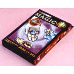 【メール便対応2個まで】パーティーグッズ 手品 マジック ダブルスーパーコイン(マジックプラスワン)